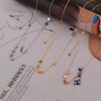american tennis stars - Titanium Steel Rose Gold Plated Choker Jewelry Fashion Design Star Tassel Strings Chain Necklace