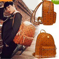 Wholesale 2016 New Arrival Fashion School Bags Hot Punk style Women Backpack Europe Student Backpack PU Leather Lady Bags