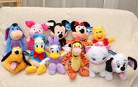 al por mayor mickey mouse torpe-12 estilos 20 cm de Mickey Mouse de la felpa de Mickey Minnie Pato Goofy Pluto muñeca rellena regalo del juguete de la felpa para kidsbaby