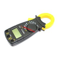 Wholesale 1pcs Counts Multimeter AC Current Voltage Resistance Diode Continuity Temperature Tester Clamp Meter Multimetro LCD Digital Clamp Meter
