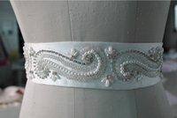 Wholesale 2016 New Design Real Sample Hand Made Embellished Pearl Crystal Belt Wedding Sash For Bridal Dresses Wedding Accessories For Dres