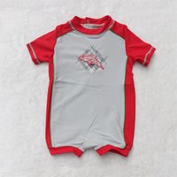 baby uv clothing - 0 Y Baby Short sleeve Unitard Swimsuit maillot de bain bebe swimwear Kids zwempak Bathing Suit boy clothes uv Surfing Clothing Sunsafe UPF