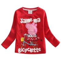 Wholesale New Girls T shirt Cartoon Childrens Clothing Kids T shirts Baby T shirts Cartoon Nova Kids Tops F3899
