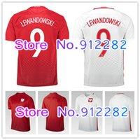 Wholesale new Poland Soccer Jersey Home White Away Red Polska Lewandowski Piszczek Koszulki football