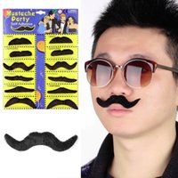 beard costumes - Hot Worldwide set Costume Party Halloween Fake Mustache Moustache Funny Fake Beard Whisker DHL