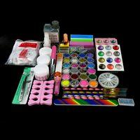 arte nail brush - Arte Clavo Full Acrylic Powder Liquid Rhinestones Glitter Sheets Caviar Nail Art Brush Kit Set