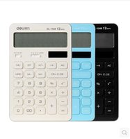 Wholesale 2016 New Flat Digits a Color Solar Calculator Business Bank Accounting Finance Office Lovely Slim Student Computer LED