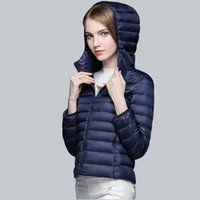 Wholesale Lady Clothes Winter Jacket Short Down Coats Thick Parka Waterproof Jacket Duck Down European Style Warm Luxury Coat Snow Feather Parka mujer