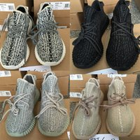 Wholesale Double box TOP Boost Sneakers Kanye west Training Shoes turtle dove Moonrock with original box Keychain Socks Bag Receipt Boxes