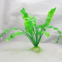 Wholesale New Green Plastic Plant Grass Aquarium Decorative Base for Fish Tank Landscape Decoration Ornament Frees hipping HJS0010P20