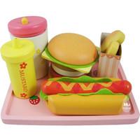 baby food shop - Baby Toys Strawberry Hamburger Shop Play Food Wooden Toys Hamburger Set Hot Dog Set Kids Kicthen Toys Birthday Gift