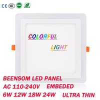architectural panels - Ultrathin LED Panel Light Embeded Square W W W W AC110 V Colorful Light for Home Hotel Bathroom Architectural Lighting