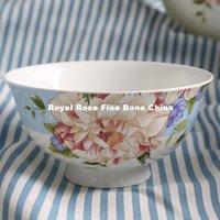 Wholesale European bone soup bowl Western style food salad bowl bowl Steamed Rice export tableware ceramic tableware exquisite