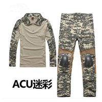 Wholesale Men s Military Army Tactical Airsoft Combat Uniform Paintball Hunting SWAT Clothes Sets Gen2 Shirt Elbow Pad Pants Knee Pads