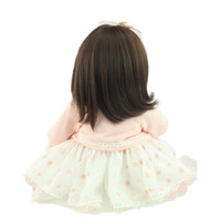 baby mating - Girls Sleep Mate Dolls Real Touch Soft Body Lifelike Reborn Doll Sweet Baby inch CM Silicone Toy Bonecas Munecas Juguetes