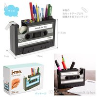 adhesive tape suppliers - Popular Creative adhesive tape holder Pen holder Vase Pencil Pot Stationery Desk Tidy Container office stationery supplier Gift