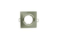 Wholesale Nickle Square Recessed LED Ceiling Light Adjustable Frame MR16 GU10 Bulb Fixture Housing