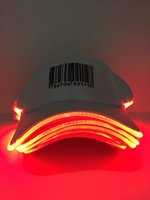 base cap flashing - Flashing led hat base cap cotton white color for party new products