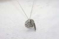 angels heaven - 20pcs antique silver quot I will hold you in my heart until I hold you in heaven quot charm with Angel wings Pendant Necklace