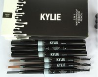 Wholesale Hot Kylie rotating double eyebrow pencil Waterproof makeup brushes Don t take off makeup colors