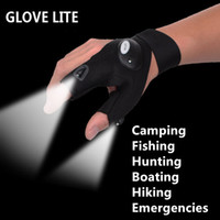 Wholesale Glovelite Flashlight Glove with LED Light Portable Fashional Multifunctional Energic and Sport Cycling Glove Light TV Product