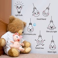 Wholesale 36Pieces Cute cartoon lamp switch sticker sitting room bedroom adornment can be removed background decorative wall stickers