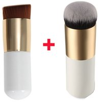 angled blush brush - Round Flat Top Makeup Powder Brush BB Cream Foundation Bronzer Kabuki Brush Tool Angled Face Blush Contour Beauty Cosmetic Tool