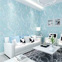 atmosphere heat - PAPEL de parede simple non woven wallpaper D atmosphere warm bedroom living room TV backdrop