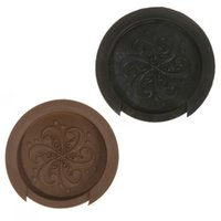 acoustic guitar cover - Printing Sound Hole Cover Block Plug Screeching Halt for quot quot EQ Acoustic Guitar Black Brown Guitar Parts Accessories