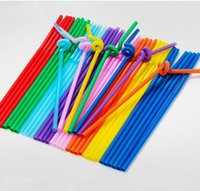 Wholesale 2000pcs Flexible Plastic Bendy Mixed Colours Party Disposable Drinking Straws Kids Birthday Wedding Decoration Event Supplies K30001