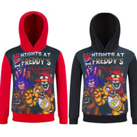 Wholesale Black FANF Character Printed Unisex Five Nights at Freddy s Hoodie Freddy Fazbear Sweatshirt Boys Youth Pullover Cotton Hoodies