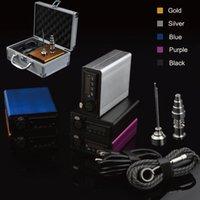 aluminium nails - Classic mini enail Dnail E NAIL Portable mini enail temperature controller box g9 enail with mm mm coil heater with Aluminium Case