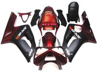 Wholesale 3 Free gifts New ABS Full Fairing Kit Fit For KAWASAKI Ninja ZX6R ZX R R Bodywork set Red black TOP