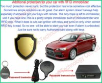 Cheap brand new free shipping RFID key fob transponder immobilizer car accessory anti-theft auto-arm car alarm cars black