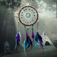 bamboo net - Antique Imitation Enchanted Forest Dreamcatcher Gift Handmade Dream Catcher Net With Feathers Wall Hanging Decoration Ornament