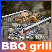 bbq grill deals - Super Deal Outdoor Camping Protable BBQ Grill Stainless Steel Simple Tube BBQ