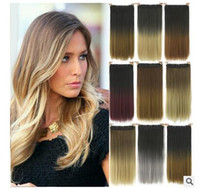 Wholesale Hot Sale America wigs cm Straight hair clip hair curtain Dyed hair shade wig Colors hair wig