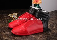 best dance shoes - Best selling Men High Top Fashion Hip hop Dance Shoes Lace Up Trainers Shoes Genuine Leather Outdoor Casual Flats Shoeos Mans