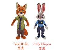 Wholesale 12inch Zootopia Crazy animal City Plush Toys NEW children cartoon cm Nick Wilde Judy Hopps Plush Toy Doll toys