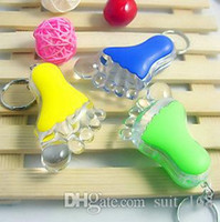 bead pendant holder - whilesale Little feet LED lamp pendant keychain light flashlight Creative stall supply merchandise strange