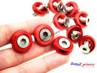 Wholesale piece set Red M6x20MM Aluminum Fender Bumper Washers with Bolts DRESS UP for honda