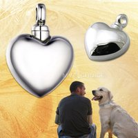 bell memorials - 316L Steel Cremation Necklace Pendant Memorial Ash Urn Keepsake Pet Heart Shape