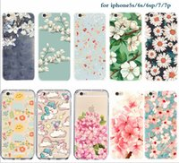 apple carvings - Delicate Carving Flower iPhone Plus cases Cameo iPhone s Plus Cell Phone case iPhone s se Mobile Phone Covers