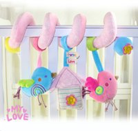 bell housing - Baby Care Pacify Rabbit Children Pacify Sleep Toy For Crib and Trolley With Bell Bird and House Pattern Kids Accompany Toy