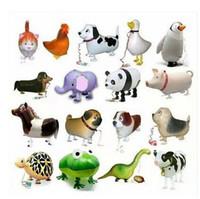 all'ingrosso toys for pet-Walking palloncino animali di alta qualità a basso costo a piedi Animale dell'aerostato gonfiabile alluminio Walking Pet Balloon Decorazione natalizia Giocattolo dei bambini