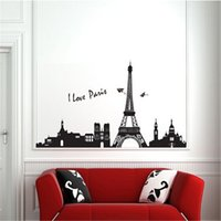 art pair - 2M Length I Love Pairs Landscape Wall Stickers for Kids Rooms Living Room Home Decor Wall Decor Mural Art