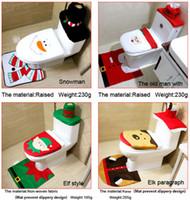Wholesale Santa Claus toilet seat three sets of Christmas decorative toilet sets of Christmas decoration decoration decoration of the interior decorat