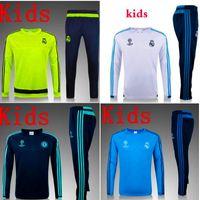 Wholesale Mixed buy PSG Real Madrid Ronaldo kids jerseys Survetement kids tracksuit soccer maillot training suits maillot Sweatshirts football