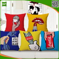 Wholesale Cute Funny Cartoon Digital Printed Polyester High Quality Cushion Cover New Design Home Decorative Pillow Case
