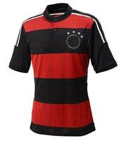 Wholesale 2014 World Cup Deutschland Fussball Bund team jerseys Away shirts Thai quality man soccer jerseys Cheap football custom shirt suit